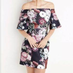 {Keepsake} Off Shoulder Floral Mini | sz S